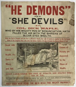 """He Demons"" and ""She Devils"" by Col. Dick Maple, Who by His Mighty Pen of Denunciation, Hath..."