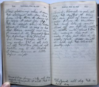 Diary of Orpheus W. Wilson Documenting His Activities for 1898 in Nevada County, Iowa]. Orpheus...