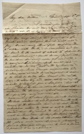 Autograph Letter, Signed, from L. Bellinger to His Father in Texas, Concerning the French...