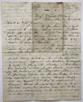 Autograph Letter, Signed, from A.S. Baldwin to Chester Ashley Asking for a Naval Command during...