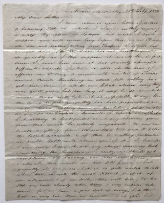 Autograph Letter, Signed, from Hugh McCalmont to His Father, Reporting on Their Business Affairs...