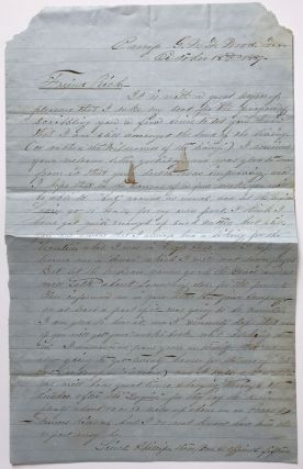 Autograph Letter, Signed, by William Beggs to J.A. Richards Concerning the Soldiering Life,...
