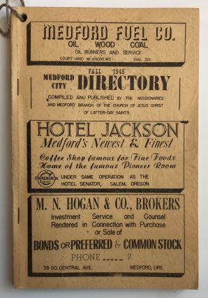 Fall 1949 Medford City Directory. Compiled and Published by the Missionaries and Medford Branch...