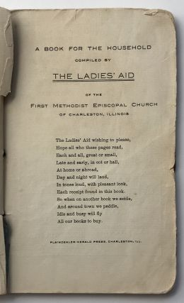 A Book for the Household Compiled by the Ladies' Aid of the First Methodist Episcopal Church of...
