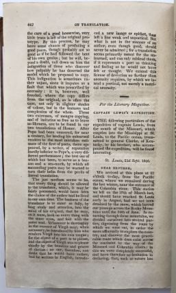 The Literary Magazine and American Register. For 1806. From July to December Inclusive.... Vol....