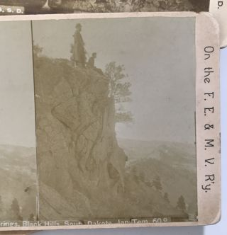 Group of Fourteen Stereoviews of South Dakota Depicting the Black Hills Region]. William R. Cross