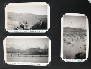 Vernacular Photo Album of Automobile Trips to the Owens Valley and Environs]. Western...