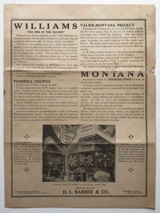 "Williams ""The Gem of the Project"" [caption title]. Montana"