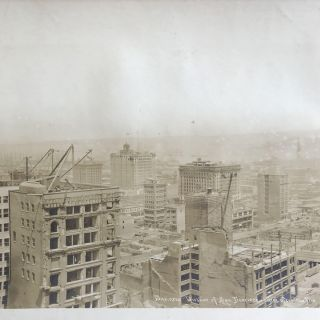 Business District of San Francisco 1 Year After the Fire. California, San Francisco Earthquake