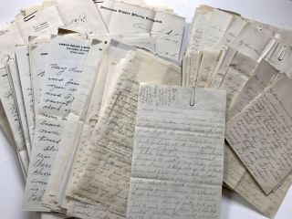 Extensive Archive of Personal Family Correspondence from Members of the Logue Family, Written...