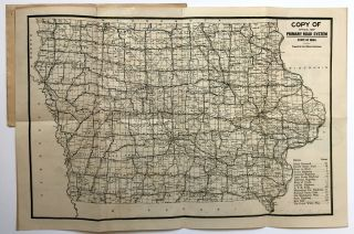 Copy of Official Primary Road System of Iowa [cover title]. Iowa