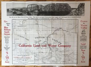 Map of the Victor Valley