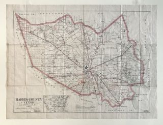 Harris County Texas. Scale 6000 Varas to the Inch. 1902. Texas