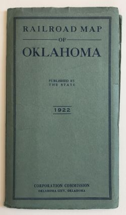 Railroad Map of Oklahoma [cover title]. Oklahoma, Railroads