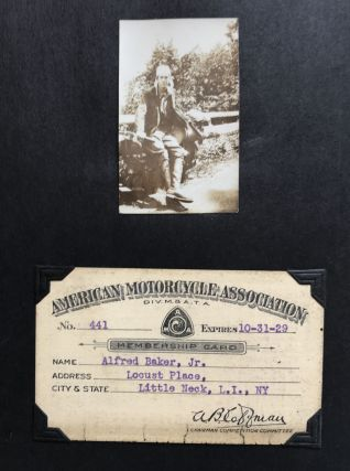 Album of Photographs and Ephemera from a 1929 Cross-Country Motorcycle Trip to California]....