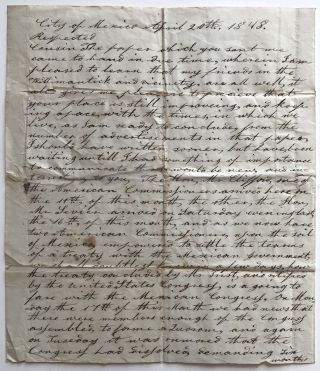 Autograph Letter, Signed, by William T. Dorrance, Advising a Connecticut Relative on the Progress...