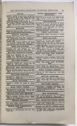 Classified Directory 1919. Containing the Name, the Business, and Telephone Number of Business Concerns, Institutions and Professional People of San Francisco, Oakland and Bay Cities