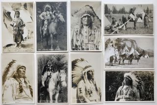 [Series of Nineteen Real Photo Postcards of Nakoda Native Peoples in and Around Banff]
