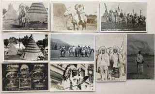 Sixteen Real Photo Postcards Depicting First Peoples in Alberta and on the Canadian Plains]....