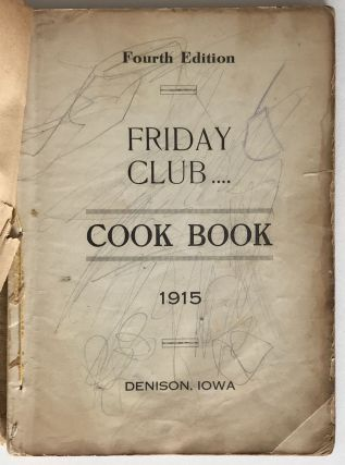 Friday Club Cook Book 1915