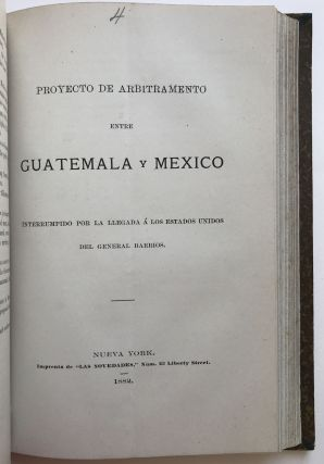 Sammelband of Five Tracts Regarding the 19th-Century Border Dispute Between Mexico and...