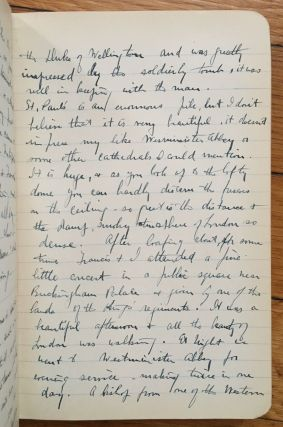 The Diary of George L. Forsyth Written from Day to Day on the Tour Through the British Isles & the Continent, Beginning July 2nd 1908 and Ending September 18th 1908 [manuscript title]