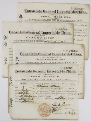 Four Certificates of Nationality from the Chinese Consulate in Havana for Indentured Servants]....