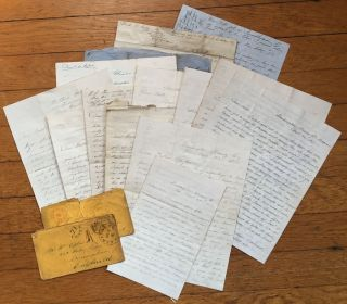 Archive of Fourteen Civil War-Era Letters Written from Wisconsin to England, Describing An...