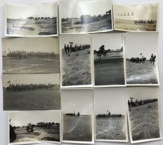 Group of Ten Photographs Documenting Training of the 13th Cavalry Regiment During the Border...