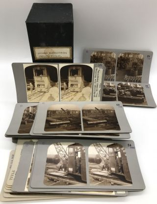 Group of Forty-five Stereoviews of Industry and Manufacturing at the Goodman Manufacturing...