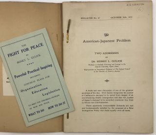 Japanese-American Problem Pamphlets by Prof. Sidney L. Gulick [manuscript cover title]. Sidney L....
