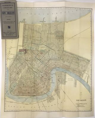 Hammond's Complete Map of New Orleans, Louisiana Showing All Streets, Ferries, Electric and Steam...