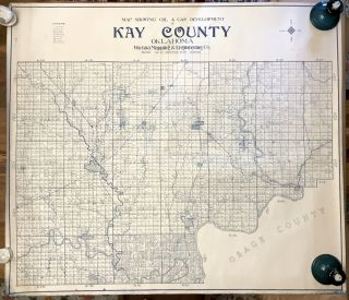 Map Showing Oil & Gas Development in Kay County Oklahoma