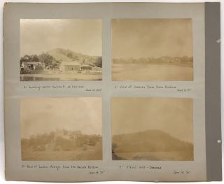 Vernacular Photograph Album of Scenes from Iowa, Including a Substantial Journey by Boat on the...