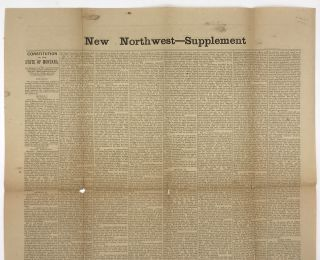 New Northwest -- Supplement. Constitution of the State of Montana [caption title]