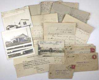 Group of Ten Letters from a Rural Texas Couple, Most to Their Son Attending the Texas Institute...