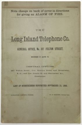 The Long Island Telephone Co. General Office, No. 397 Fulton Street, Rooms 3 and 4...List of...
