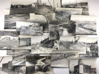 Archive of Photographs Documenting the Construction of the Lanpher Reservoir to Provide Water to...
