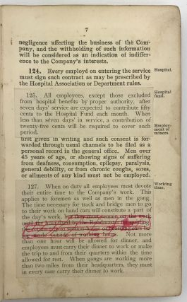 Rules and Instructions for the Government of Employés of the Maintenance of Way Department Adopted by the Southern Pacific Company