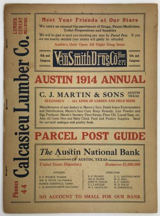 1914 Post Office Annual and Parcel Post Guide. Texas