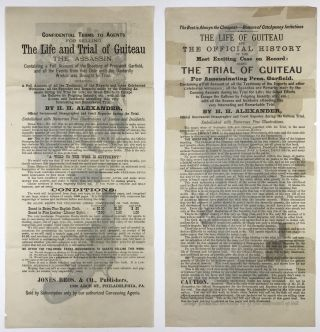 Two Broadsheets Advertising the Sale of H.H. Alexander's Book on The Life and Trial of Guiteau]....