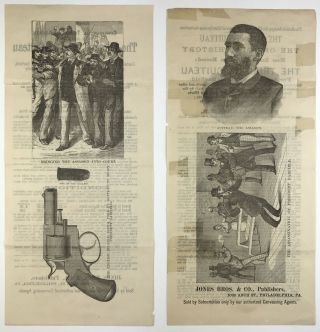 [Two Broadsheets Advertising the Sale of H.H. Alexander's Book on The Life and Trial of Guiteau]