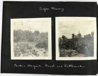 These Pictures Were Taken in August, 1923, on the 80 Acre Lease of the Rio Grande Petroleum Corporation (of Houston Texas) Aviator's Pool, Mirando City, Webb County, Texas [manuscript title]