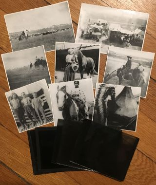 Small Archive of Eighteen Glass Plates with Images of Life in South Dakota]. Western Photographica