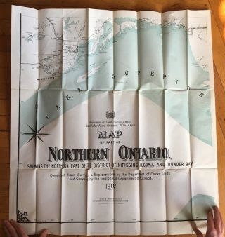 Map of Part of Northern Ontario Showing the Northern Part of the District of Nipissing, Algoma and Thunder Bay [caption title].