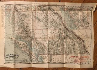 Rand, McNally & Co.'s Indexed Atlas of the World Map of British Columbia [caption title]. British...