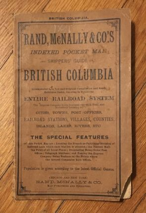 Rand, McNally & Co.'s Indexed Atlas of the World Map of British Columbia [caption title].