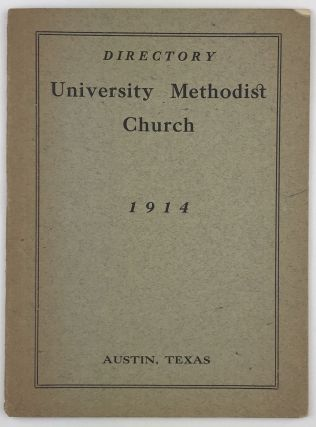 Directory University Methodist Church 1914. Texas, Religion