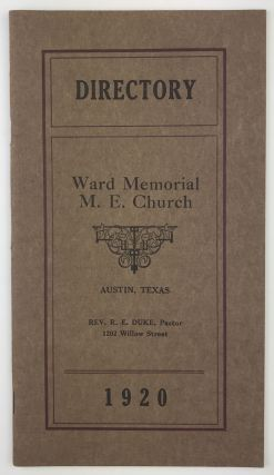Directory Ward Memorial M.E. Church [cover title]. Texas