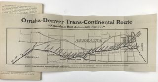 Official Guide. Omaha-Denver Trans-Continental Highway Issued by Omaha-Denver Good Roads Association